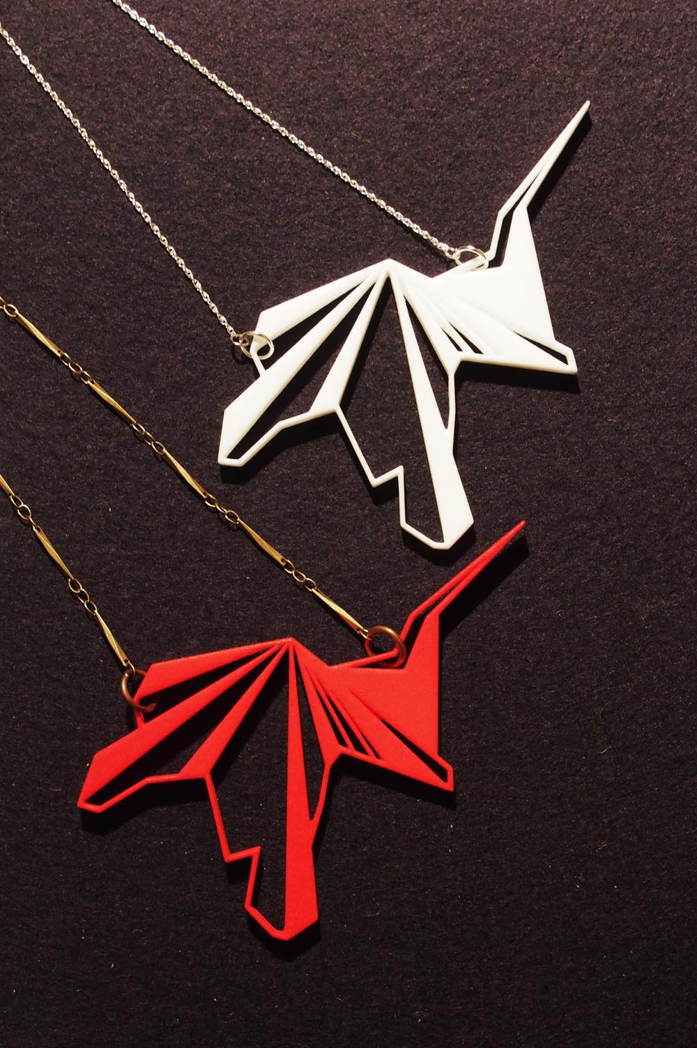 """heron"" large pendantnecklace ($50)"