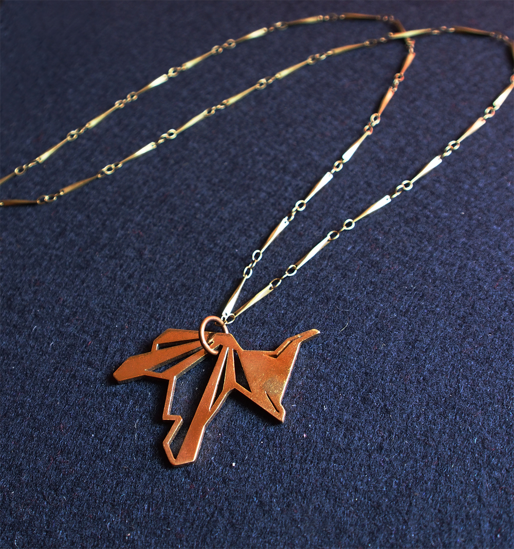 """heron"" long necklace_brass ($85)"