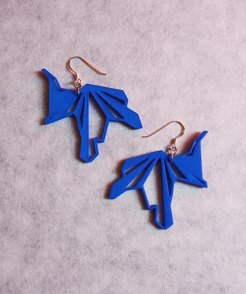 """""""heron""""_plastic earrings ($35)"""