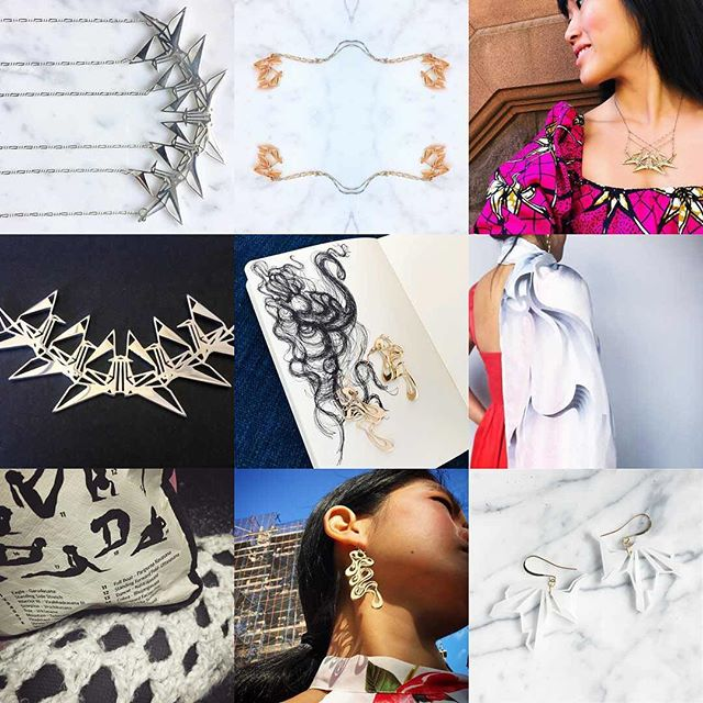 2017 was a year of swirls, angles, origami, bunnies & cranes.  May 2018 bring even more creative fun with jewelry and design!  Pieces available for purchase at link in bio ☝🏻️ or online at: www.nummynims.com  Be sure to follow nummynims on Instagram, Facebook, Twitter, Tumblr & the nummynims blog.  #2017bestnine #nummynims #happynewyear #origami #crane #bunny #origamibunny #origamicrane #yoga #yogamatbag #crochet #jewelry #necklace #architect #designer #design #modern #art #cool #knitting #bird #birdlover #birdinspired #fashion #style #love #accessories #shop #shopping #sketch