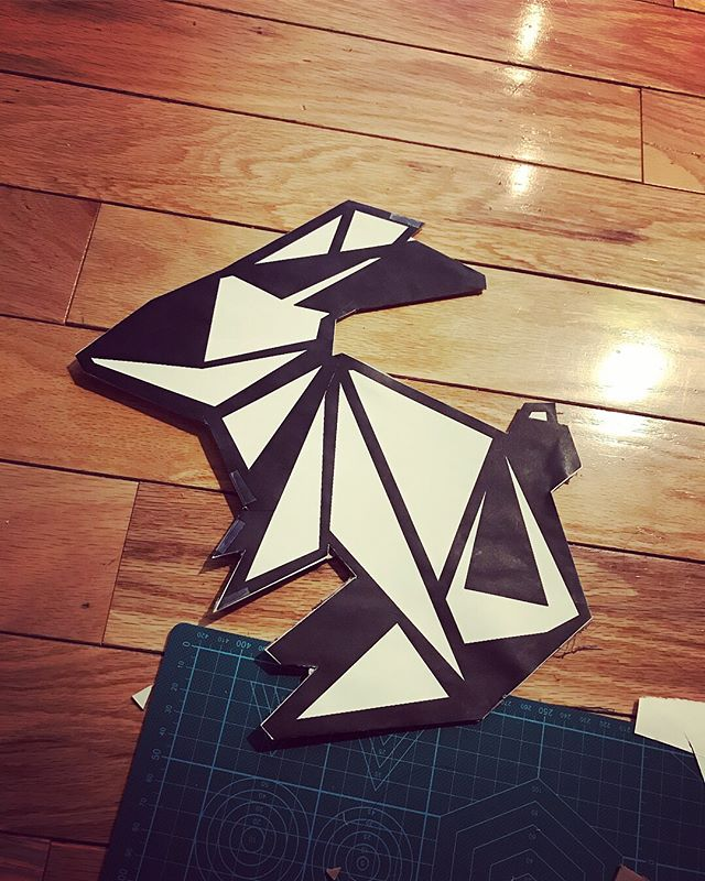 Sign making! @nummynims Team Origami Bunny traveling to Boston to cheer on @lowberries in the 2018 Boston Marathon!  Buy your own origami bunny in the nummynims store.  Pieces available for purchase at link in bio ☝🏻️ or online at: www.nummynims.com  Be sure to follow @nummynims on Instagram, Facebook, Twitter, Tumblr & the nummynims blog.  #bostonbound #bostonmarathon #nummynims #jewelry #origamibunny #origami #design #art #designer #architect #graphicdesign #blackandwhite #bunny #cool #fashion #style #cheersquad
