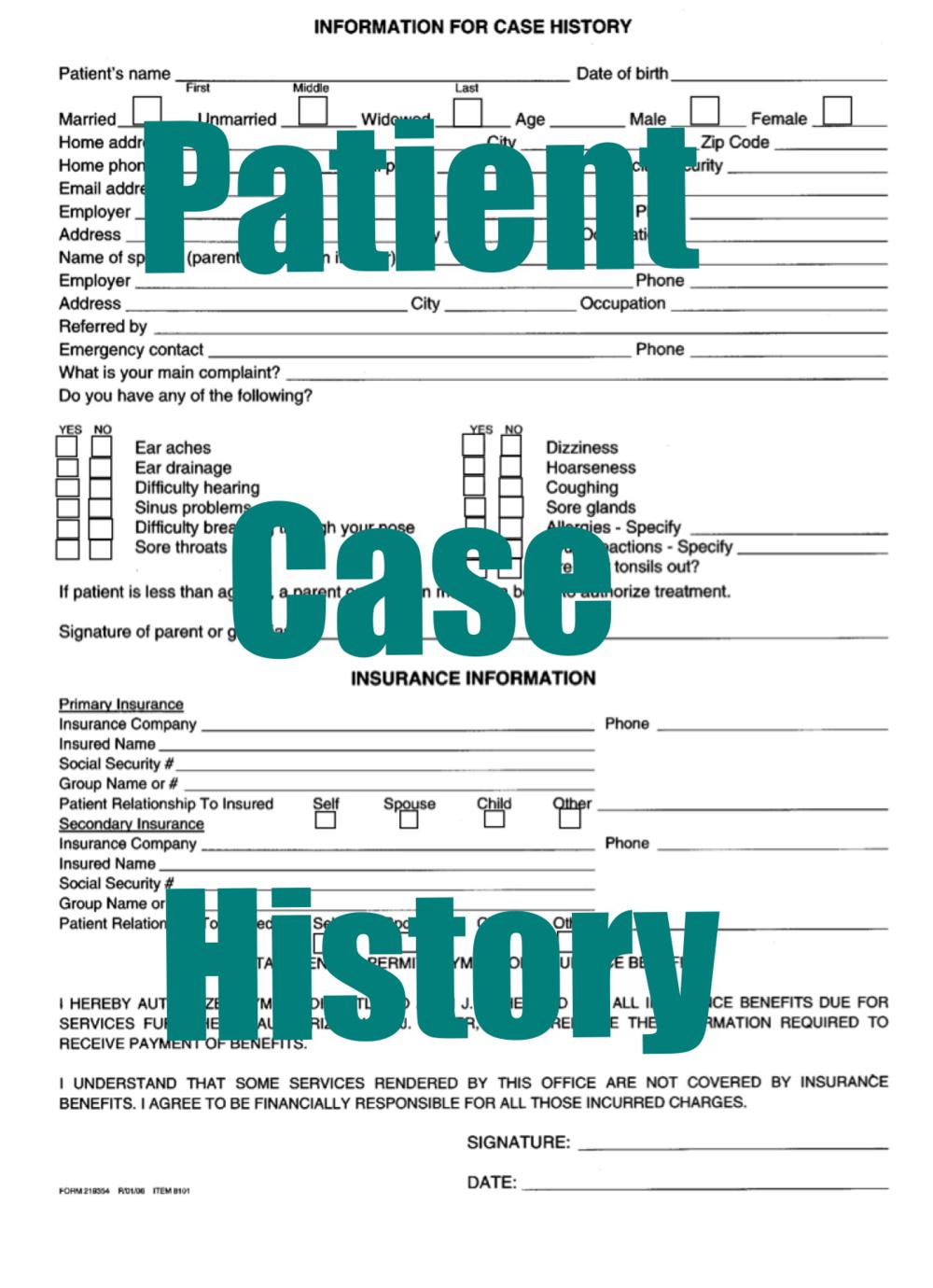 Patient Case History