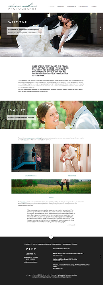 Rebecca Watkins Photography's New Website Launch