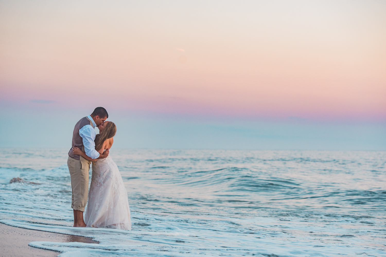 Kate and Nick- A Bethany Beach Sunrise Portrait Session — Rebecca ...