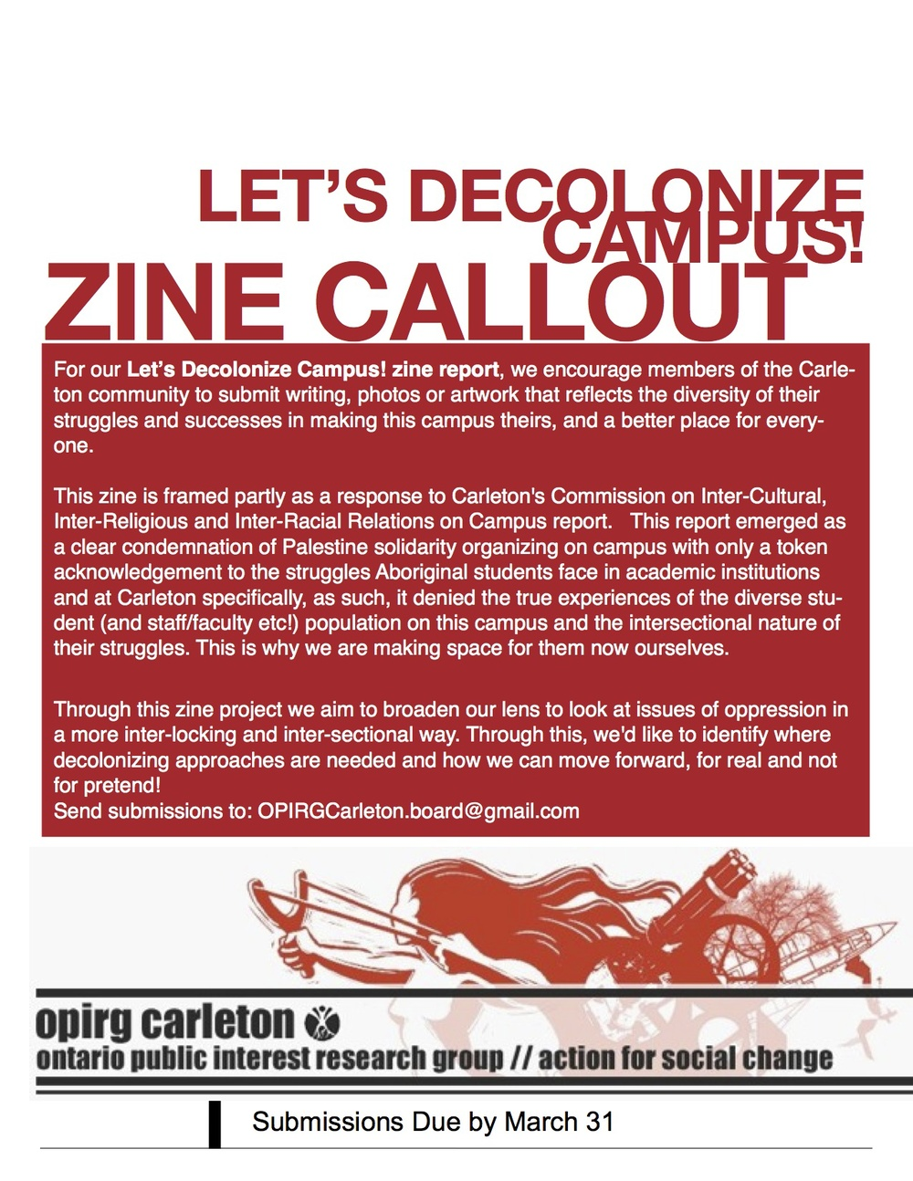 Let's Decolonize Campus! zine report