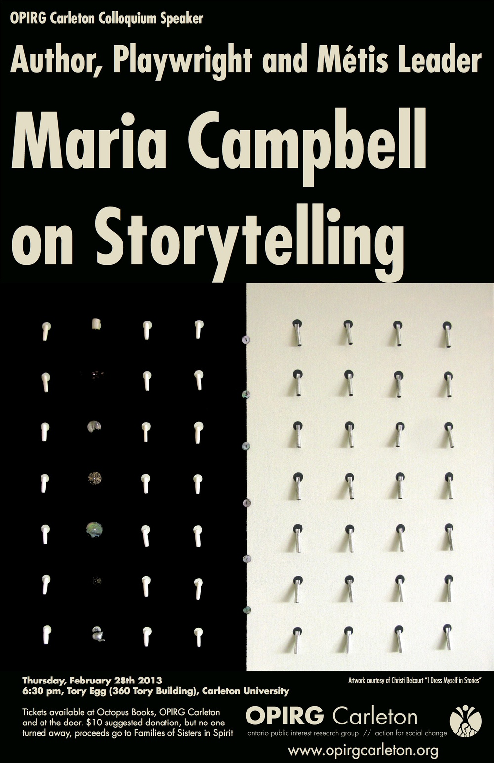 Colloquium Speaker: Maria Campbell: On Storytelling
