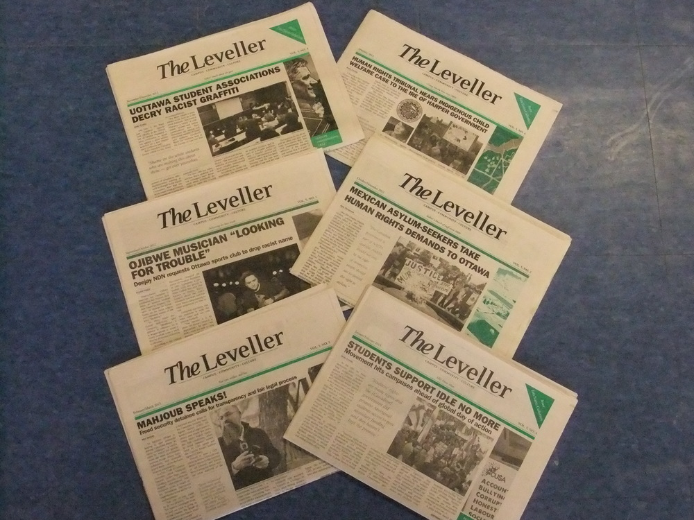 hree times a semester, OPIRG's working group  The Leveller  publishes a progressive campus and community newspaper.