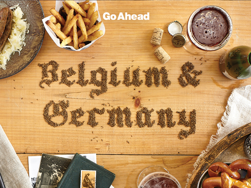 Belgium & Germany postcard.