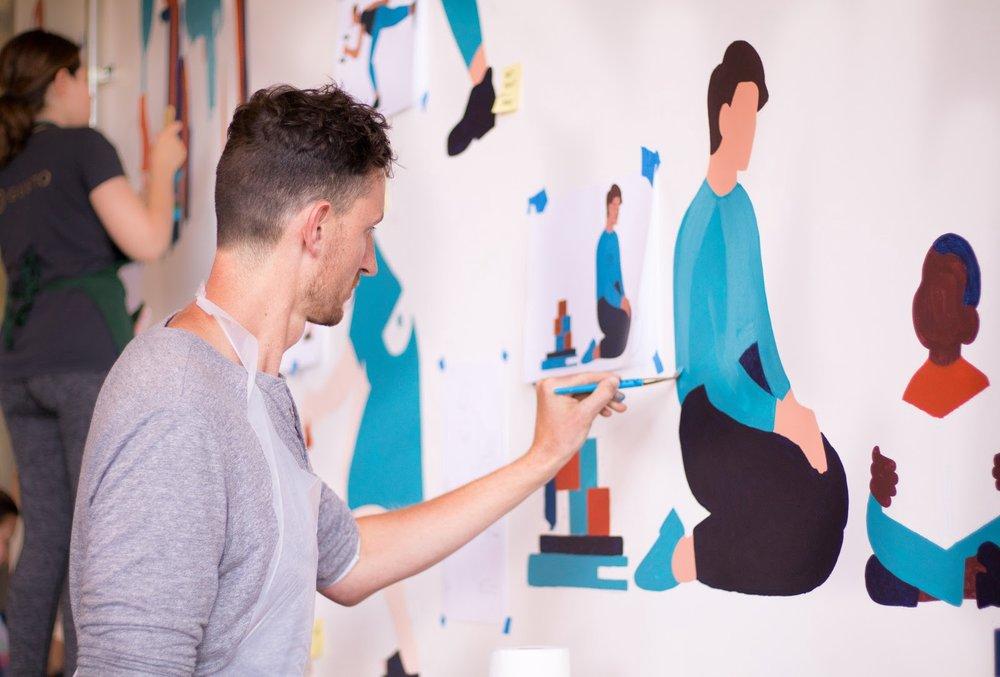 Jenna Carando_collaborative mural