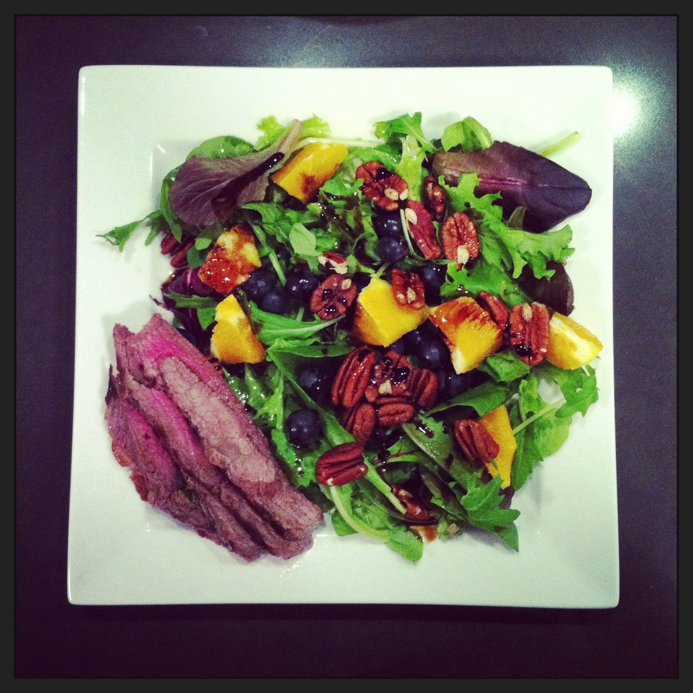 Orange-Grape Steak Salad