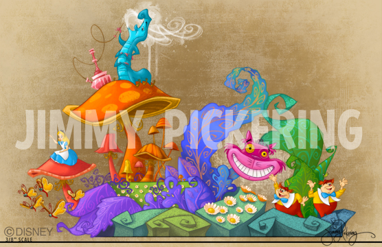 Jimmy Pickering Tokyo Disneyland 30th Anniversary Parade Happines is here! Concept Painting 01.jpg
