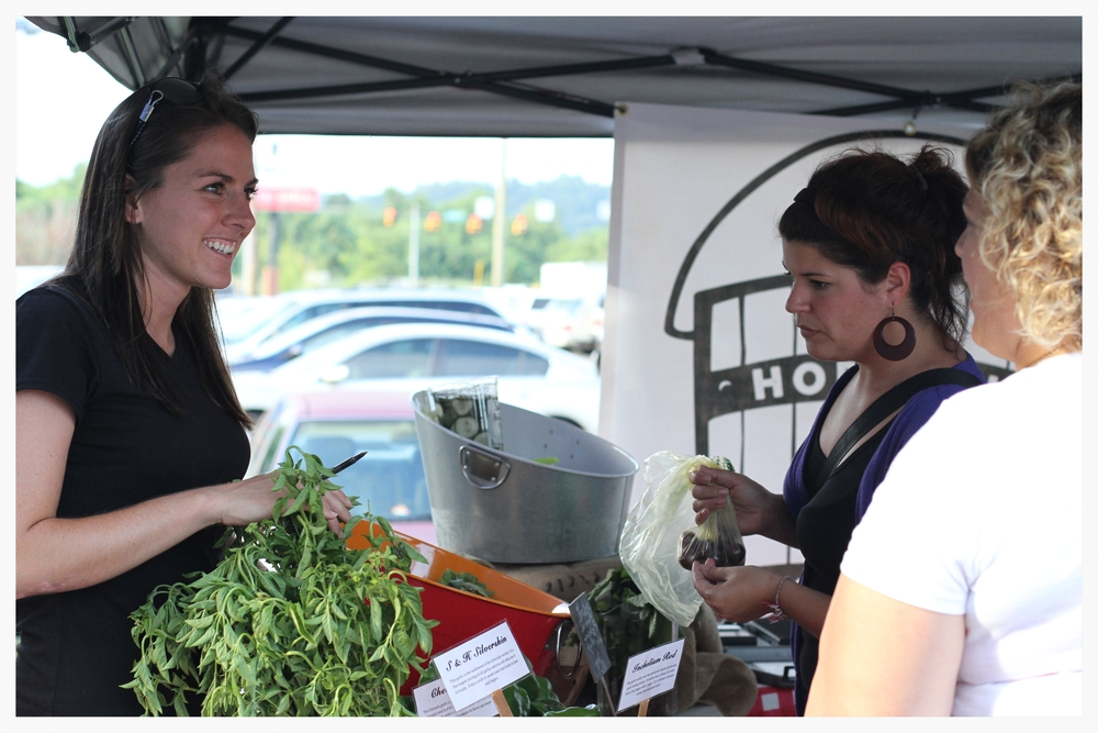 Hopewell Gardens is becoming a favorite among vendors at the Farmer's Market. Producing quality food, and giving it in generous quantities at fair prices is hard to beat.