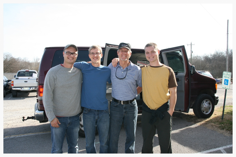 From left to right: Cameron Kagay, Rylan Aaseby, Vern Aaseby, and Colin Kagay–happy to be on their way to Uganda. Cameron and Rylan are returning to Uganda after several previous trips. Vern (Skylar and Rylan's father) and Colin will be travelling to East Africa for the first time.