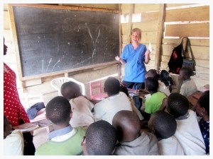 Brynn (Foster) Buchanan taught a seminar on reproductive health in the Bwaise slum outside of Kampala. Sadly, many girls did not know the source or reason for monthly bleeding. Foster taught them that this was one of the only times that the presence of blood was ok.