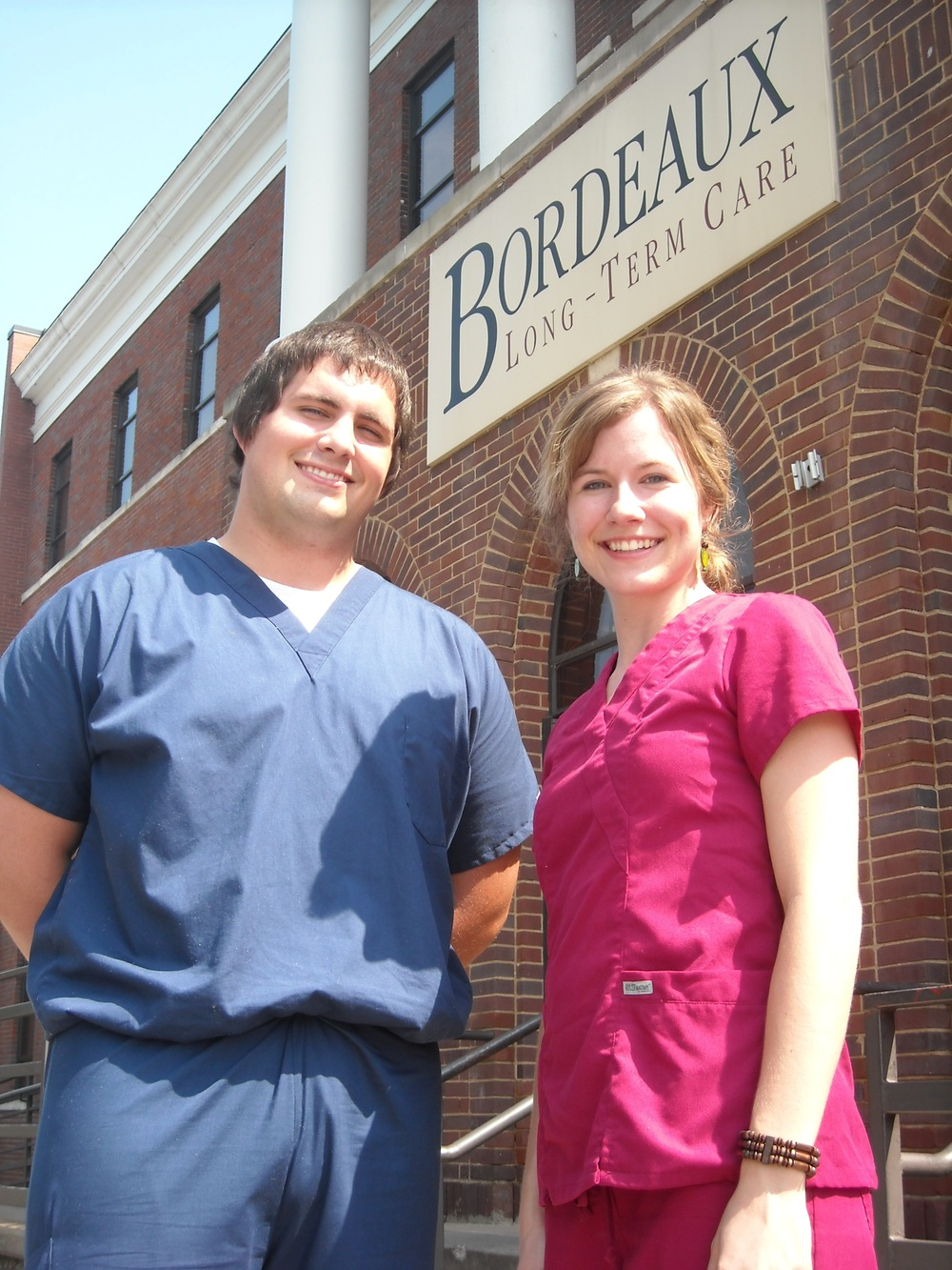 Nick Moore and Julie Cox worked five shifts at Bordeaux Long-Term Care in Nashville, TN, to complete the clinical portion of their nursing assistant training.