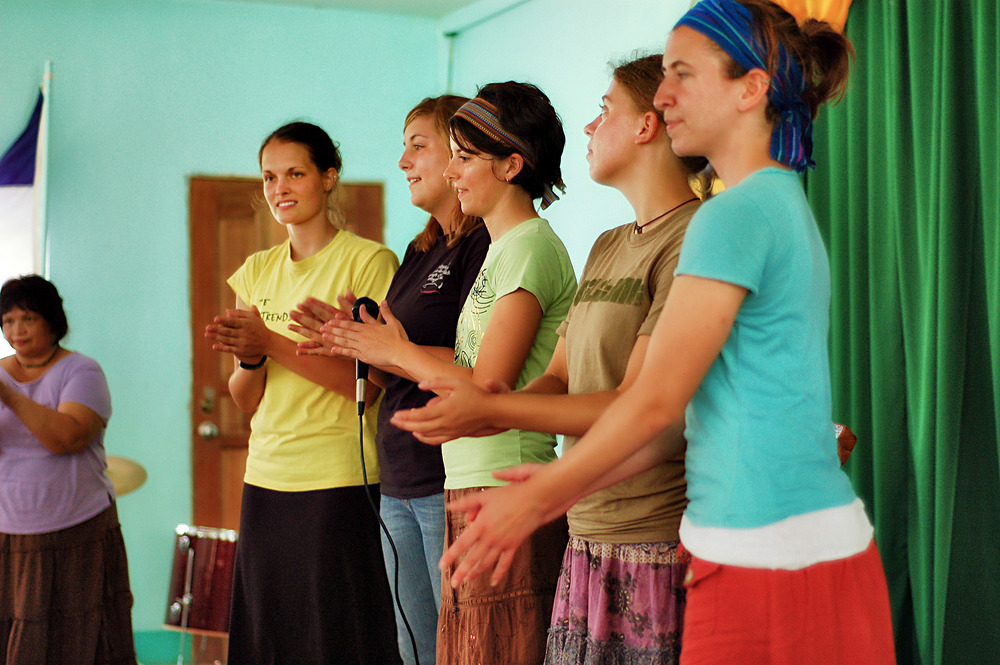 The ladies would perform songs and skits for the kids at the children's home we visited in 2006.
