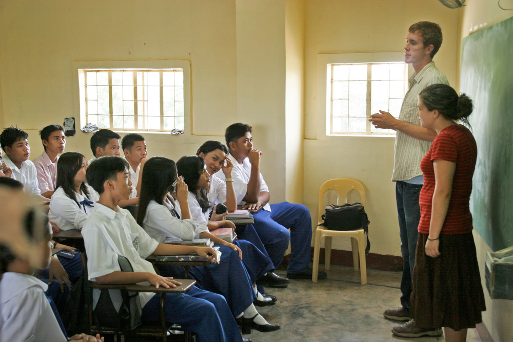 Brett Madron has a passion to see people integrate into occupational health--where they have purposeful work, for a healthy disposition. Here he teaches high schoolers in Cebu.