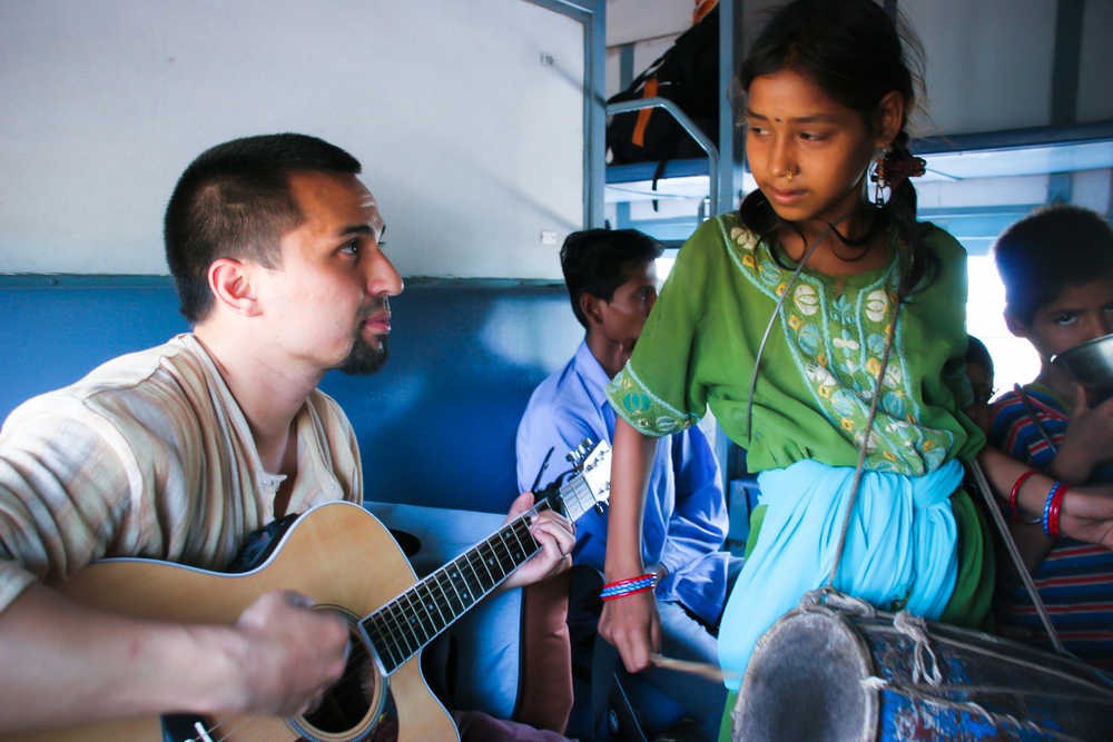 "The train often had beggars moving in and out of the cars. On this particular day, this little girl caused our whole group to pause and reflect. Gregg would write the second half of the UnNamed Servant song ""Anything"" as a result of this moment."