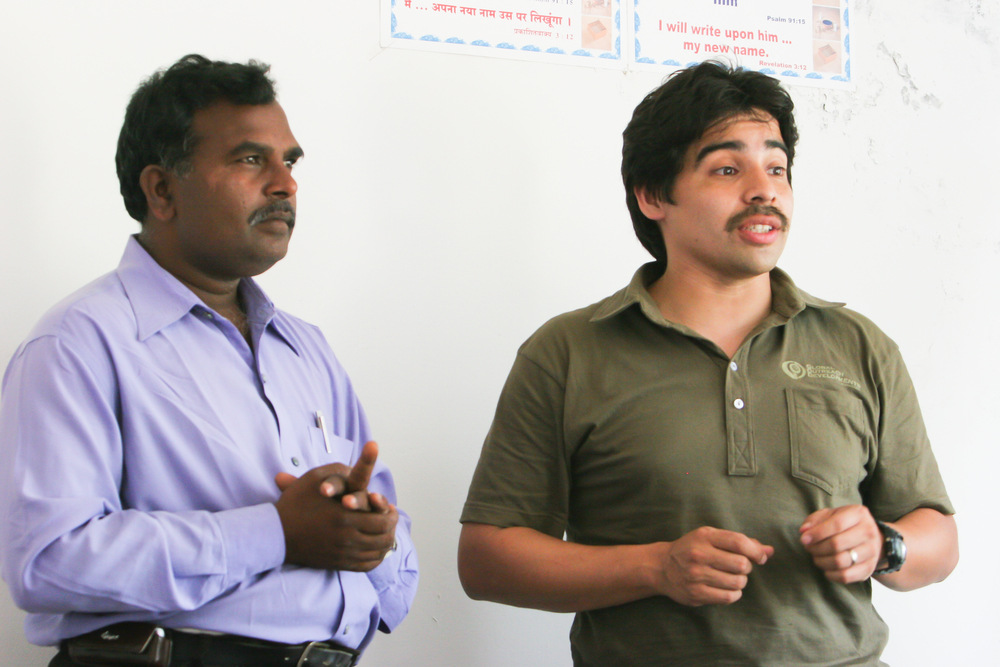 Robert Munoz spends a lot of time teaching preventative health education in India.