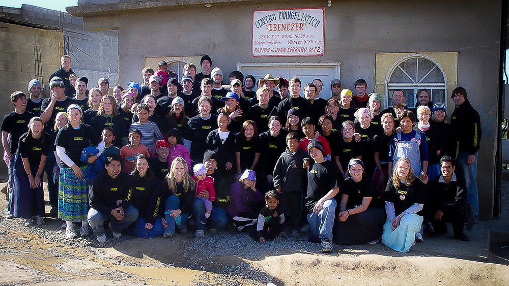"This is a portion of the last large group, about 120 people, that served and lodged in ""Ochenta Nueve,""Ensenada, MX."