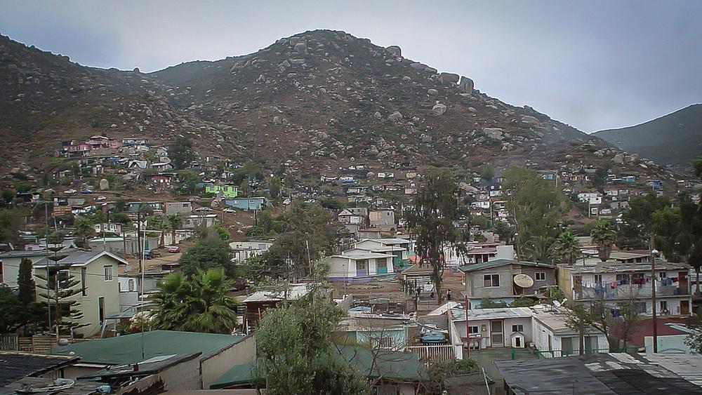 The hills of Ensenada.