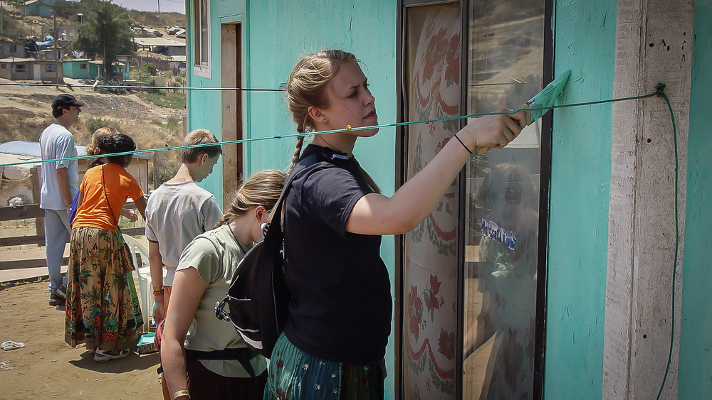 This was Amanda Aaseby's first trip to Mexico. Now an R.N. for our organization, she has always been crafty and creative.
