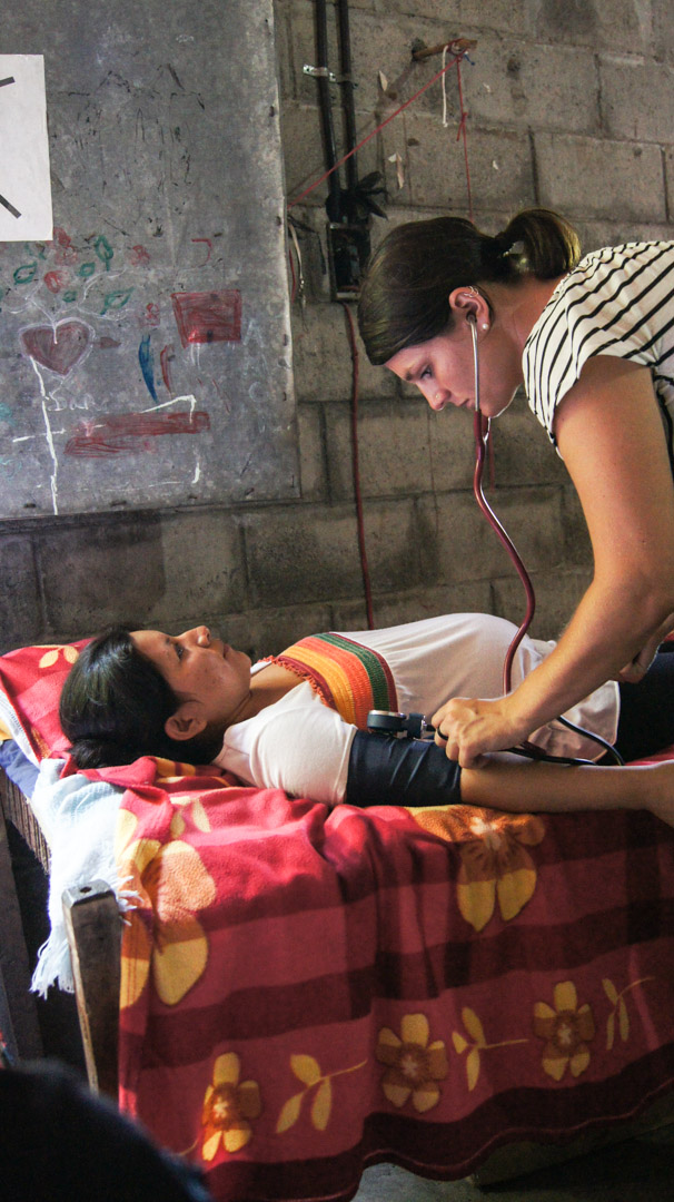 Elise Buckner conducts a prenatal appointment for a young Salvadoran woman. Buckner was able to live and apprentice with Dolores, a local midwife, for three months in 2011. The world needs more midwives like Dolores, and now Elise, who are able to advocate on behalf of women's needs and see that babies come into the world healthy and protected.