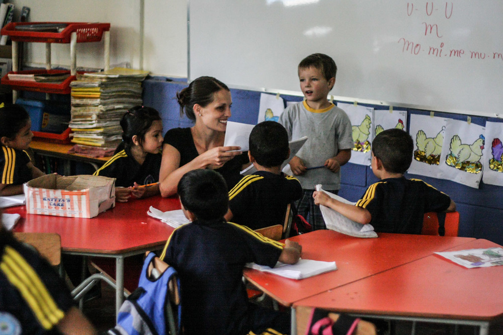 Betsy Johnson was able to help teach at the school in a rural community in 2013. She helped to teach in a classroom for 40 five to seven year olds. With the ratio of students to teachers at 40:1, Johnson's help in classroom management was welcomed by both the teacher of the class and the principal of the school.