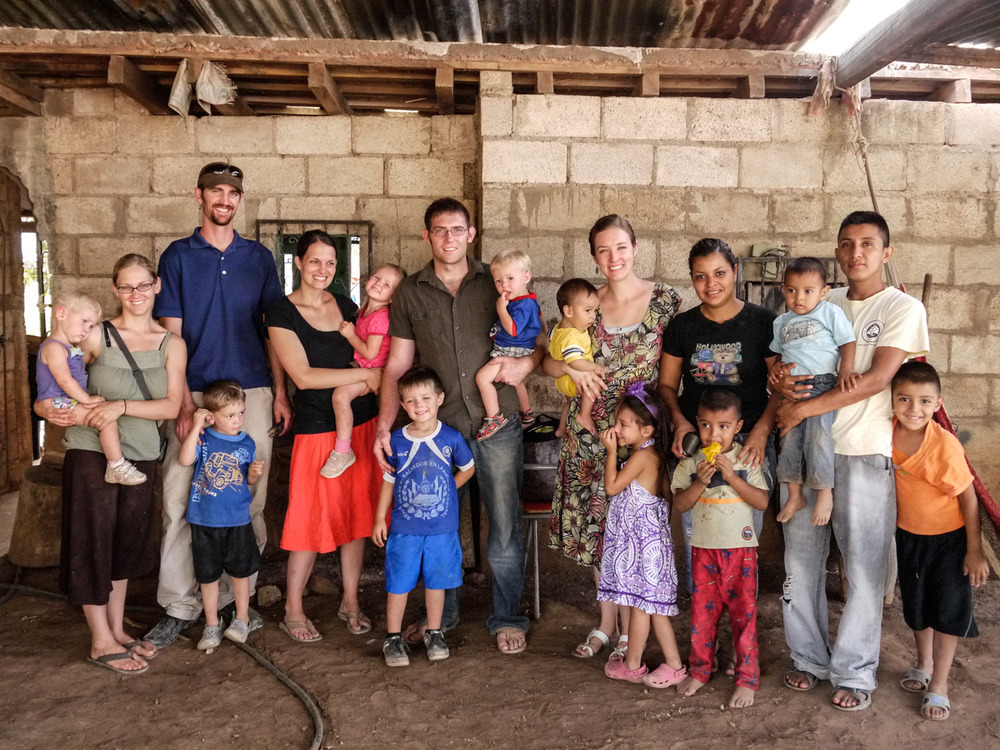 At the close of their 6-month stay in El Salvador in 2013, the Johnson, Watson and Reyes families were given a warm goodbye by our friends. Friends and neighbors both immediate and from surrounding rural areas came to wish them farewell, express their love for the families, and urge them to return again soon.