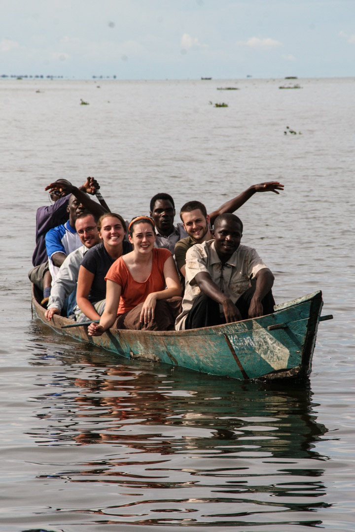 Pastor Tom Muyomba (steering the canoe) was one of our initial friends in Uganda. Tom was a fisherman who first became interested in Jesus because he was also a fisherman. Jesus' teachings transformed Tom's life and allowed him to start over 50 churches in rural Uganda. These churches are visited, taught, and encouraged by our teams that frequent Uganda, many of them in rural fishing villages.
