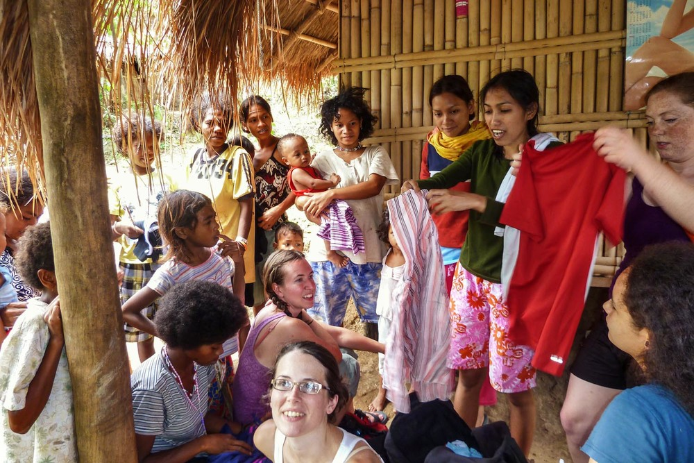 Teams distribute clothing, basic sanitation supplies, and educational materials to an Aeta (indigenous) village.