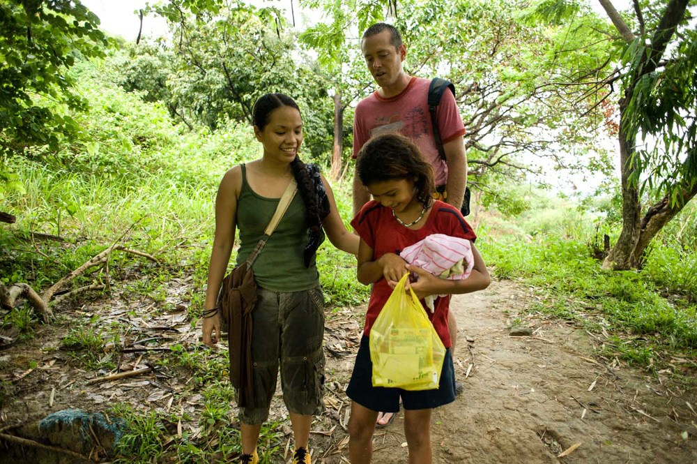 Rina Miller and Shaun Galford met this girl on their hike to bring supplies to a village in the mountains.  She was returning to her village from the city where she helps her family by working in the market. She makes this trek, which is several miles, each day.