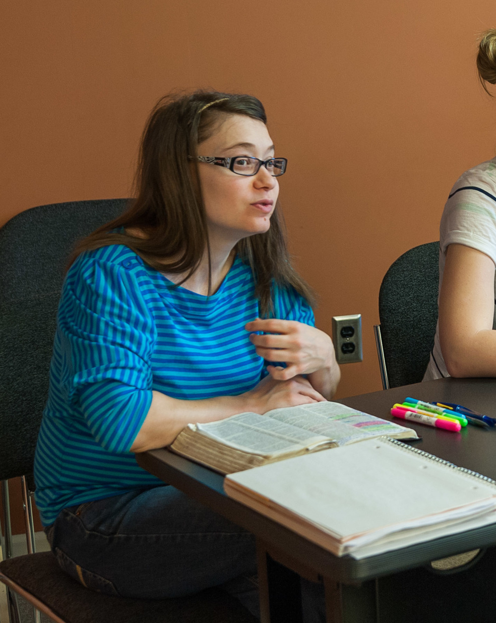 Kristy enjoys her bible classes at the Institute for Global Outreach Developments, International.