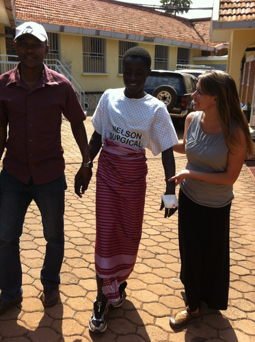 Kendice Hartnell is a G.O.D. Representative in Uganda for seven weeks. Trained in basic medical awareness and bedside care, she was able to ensure Enock's health and safety throughout a difficult surgery.