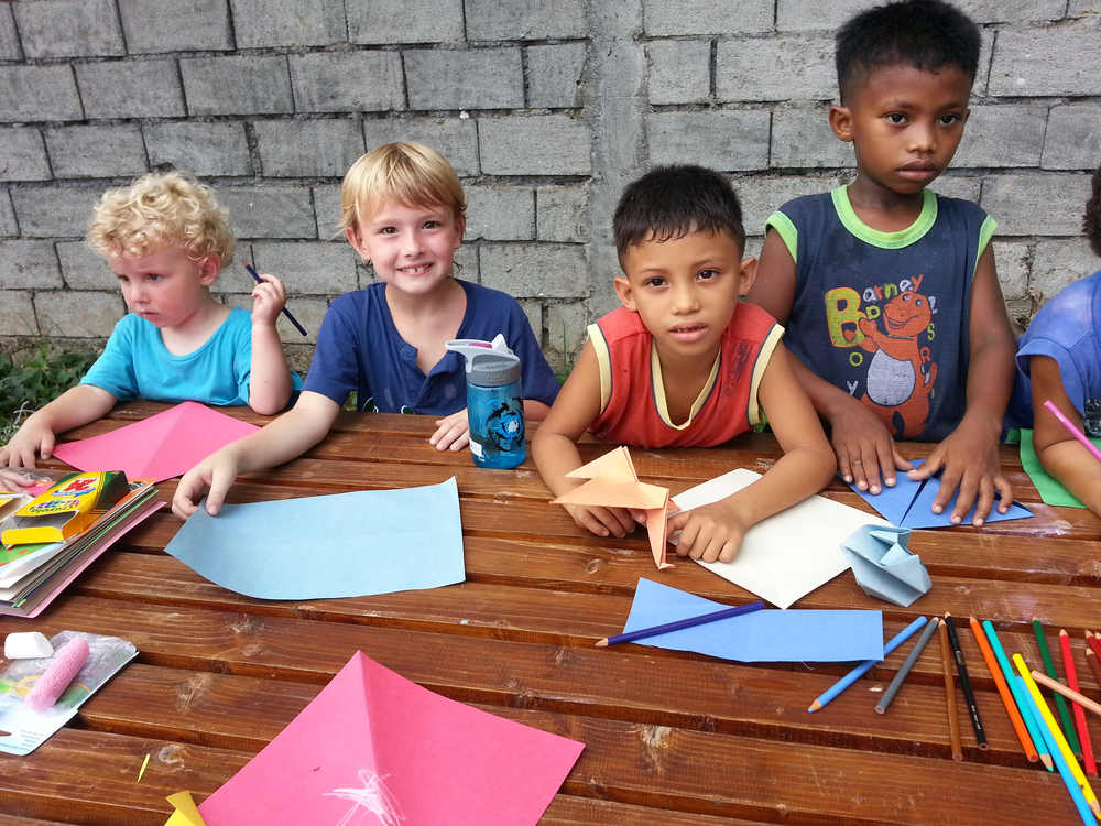 The weekly bible school that our team facilitated for the neighborhood children was a great opportunity for our children to make friendships with others as they learned through dramas, crafts, storytelling and more.