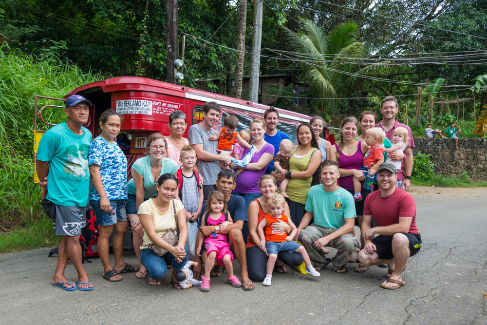 Nine families represented G.O.D. International in the Philippines in 2013. Team members pictured: Julie Carpenter, Nathan and Cannon Cameron, Megan and Chris Cameron, Rina and Clark Miller, Alison Sherrod, Kristin and Austin Bennecker, and Candace and Shaun Galford. Not Pictured: Craig and Hannah Duffy, Ty and Meg Mathews, Tim Sherrod, Jason Carpenter.