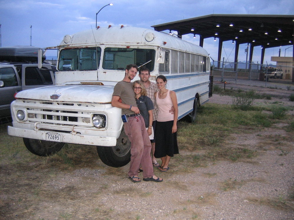 "This is the infamous ""bus trip"" to Guatemala. Yes, they actually drove that bus from the U.S., to Guatemala, and back!"
