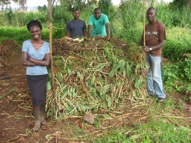 """We have our own compost stuck, prepared a double dig bed and even planted our kales. It is a wonderful adventure to be here at Manor House. We have also sent our double digging snaps, some of us preparing materials for compost among other things."" --Peter Kimbugwe, Uganda"