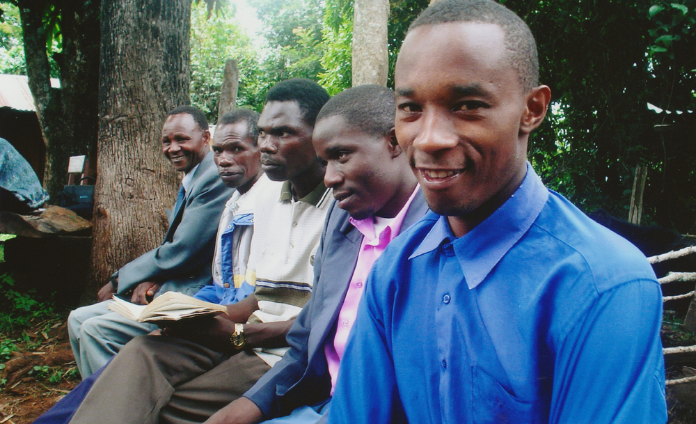 "These men were deeply impacted by our biblical teachings, and remained in ministry with us for many years, some of them still bonded with us today. John Gatanga, front right, said ""No one took a chance on me. My whole life, I had nothing. But G.O.D. believed I could be something."""