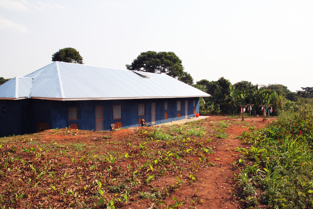 This triplex is the first structure on the G.O.D. Int'l property in Uganda. The purpose of the triplex is to serve as transitional housing for families as they build their own homes on the land, as well as host students, interns, and traveling teams.