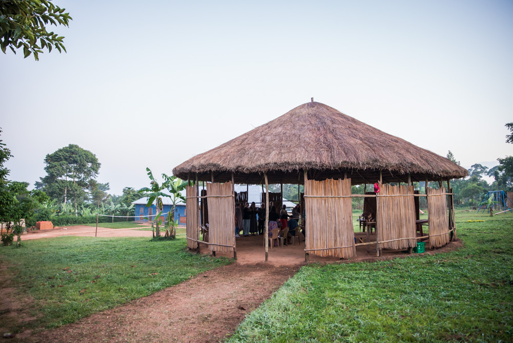 This simple building provides shelter and shade for our many communal gatherings that happen on our land in Uganda, from health seminars to budget lessons to bible studies to children's ministry.