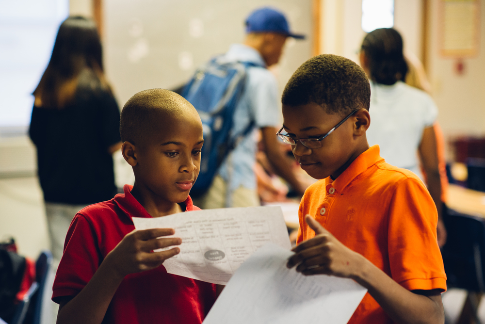Jessiah and Sean collaborate to wina literacy game during which they could only communicate through writing. In Tennessee, only 31% of students reach proficiency in reading upon high school graduation.