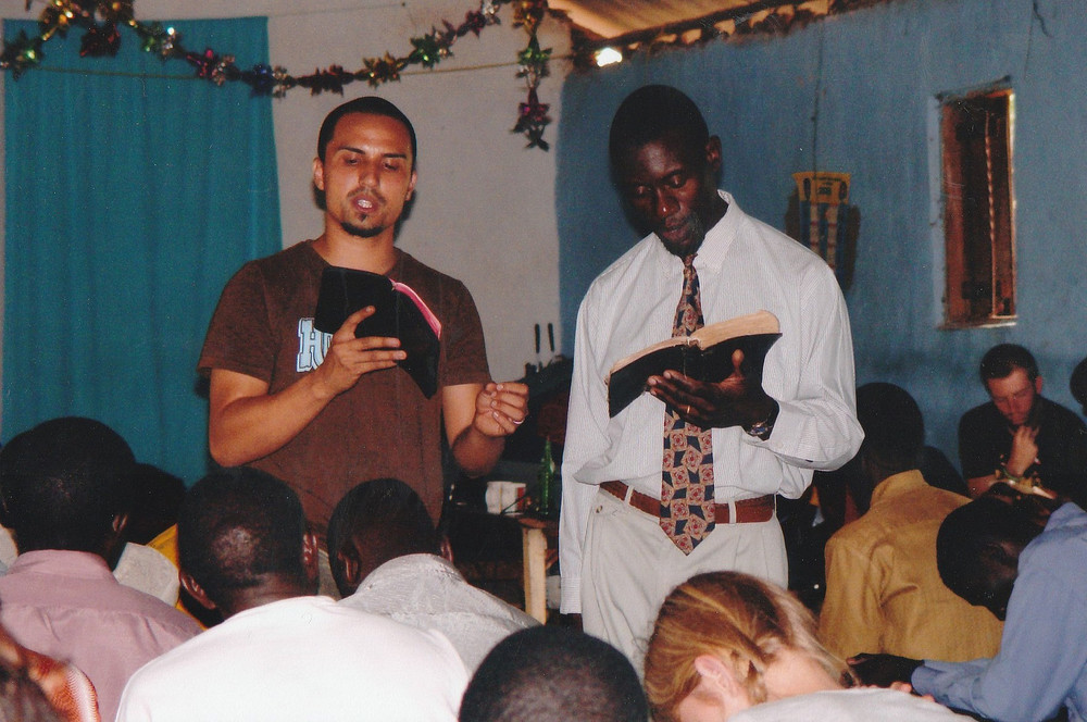 Peter Kimbugwe translates at a bible seminar in Bombo, Uganda in 2006. Kimbugwe has been one of our primary translators on every trip to Uganda since 2004 when we met him. Translating countless bible studies, classes and seminars has prepared him for the teaching he does today, where his knowledge of Biblical Hebrew and English helps explain the biblical text appropriately in his local Luganda language.
