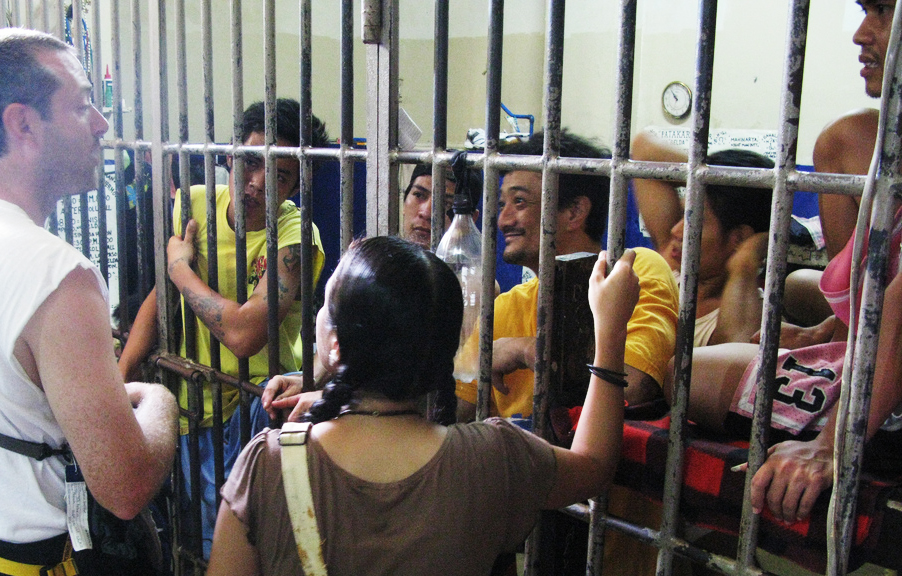 Shaun Galford and Rina Miller counsel inmates in a Philippines prison, where overcrowding is obvious.  Direction for how to cope with their present struggle is very appreciated.