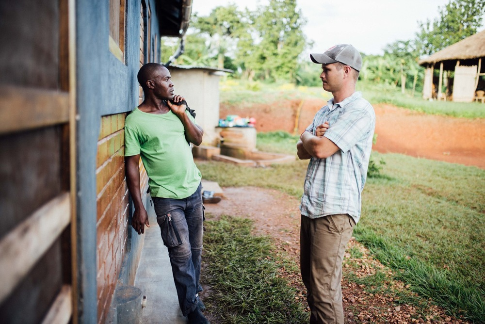 Francis Lubega and Cameron Kagay have years of history together, having worked together on several sustainable building projects. Lubega