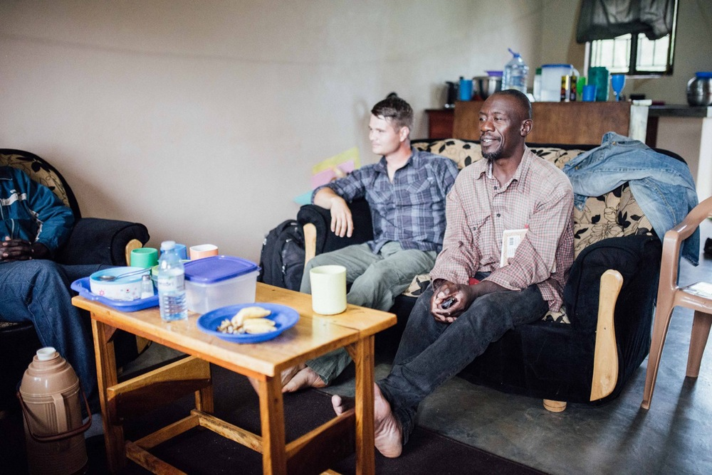 "Left sits Cameron Kagay, East Africa Regional Director for G.O.D. Int'l, who says of his trip: ""This trip has been so helpful for me, to get to the root issues, and to know how to better serve them better."" (Peter Kimbugwe is next to him.)"