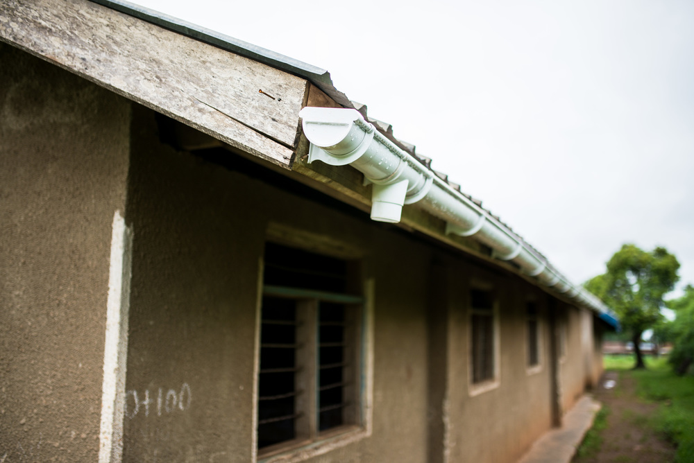 An improved gutter system has been installed on the roof of St. John's Primary.