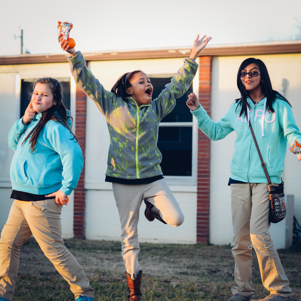 All three of these girls continued in our CASE program for a second semester. They not only had a great time, but also formed friendships that motivated them to do their best in school, together.