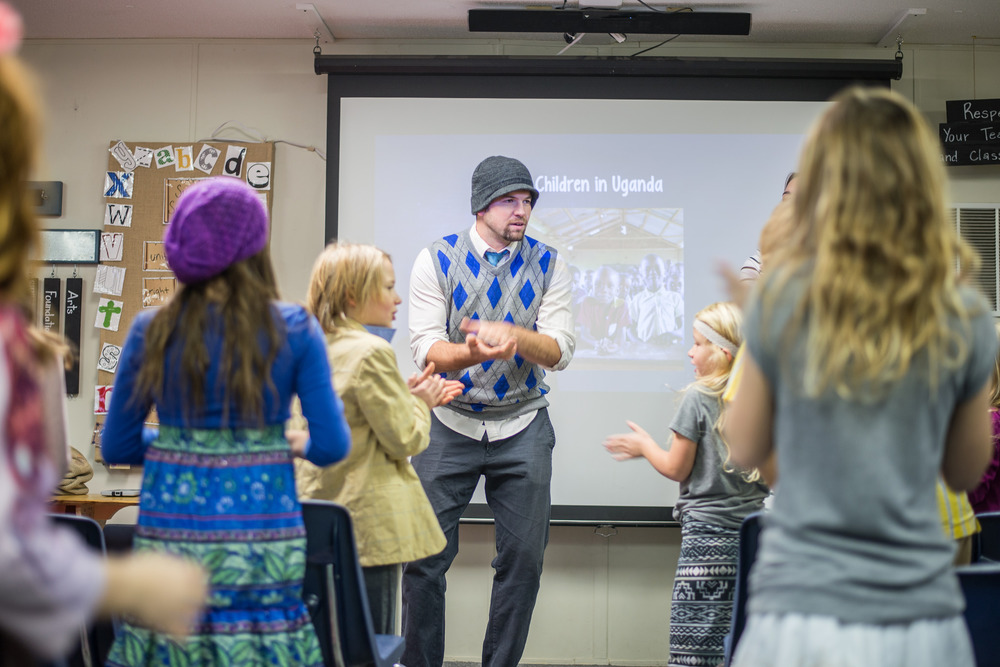 "Mr. Ownby is one of the most energetic ""Songs"" teachers around. Here, he teaches chapel participants songs from Uganda."