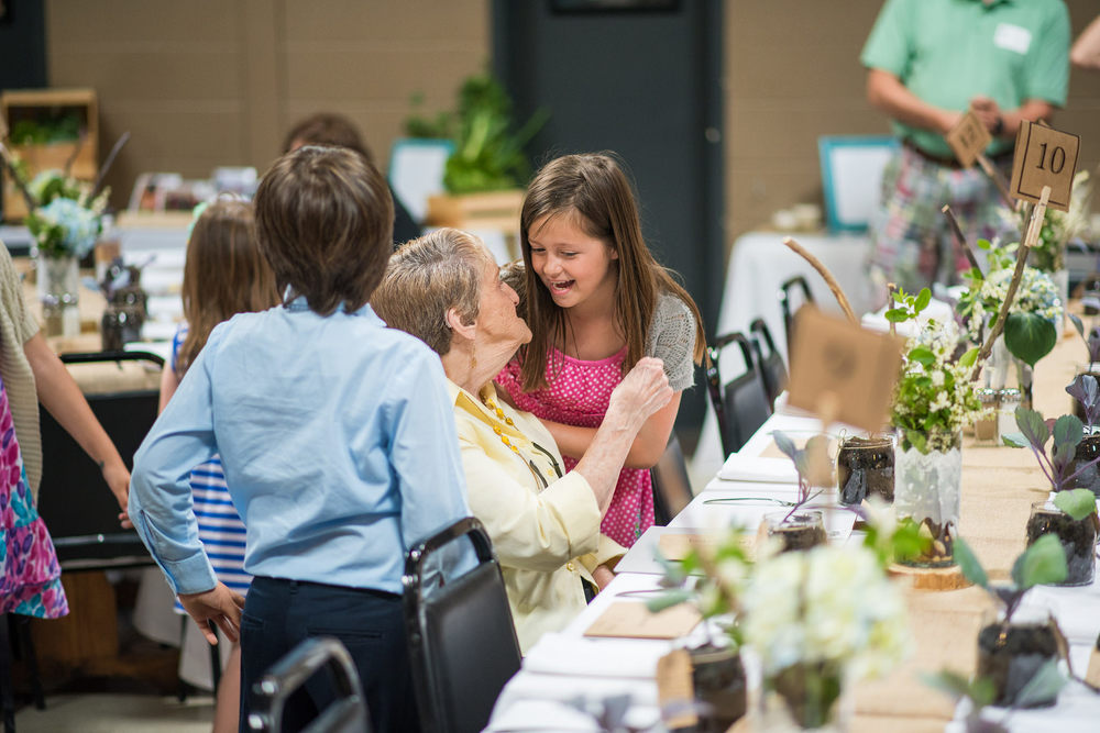 With much anticipation, students welcomed their honored guests to the special day.